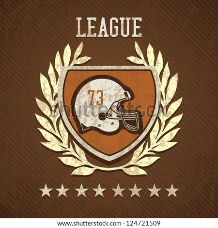 League Shield of american football, on  brown background