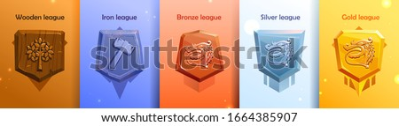 leagues shields of rating icons