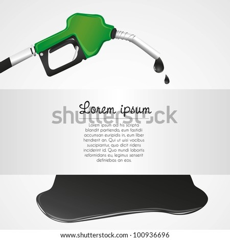 leaking petroleum dispenser with space for text