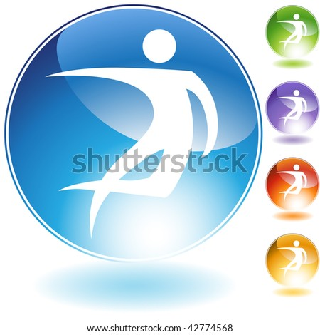 Leaning dancer isolated on a white background. - stock vector