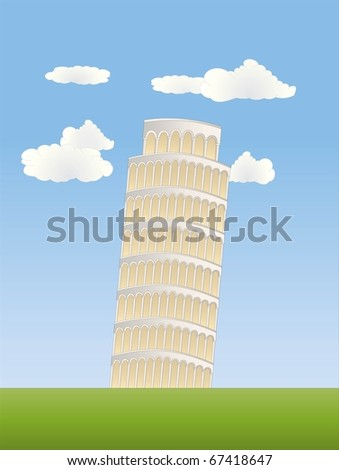 leaning tower in pisa ( background on separate layer )