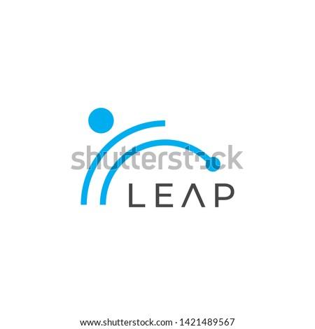 Leap vector logo. Leap icon.  Сток-фото ©