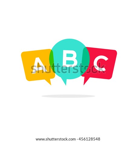 learn abc letters vector icon