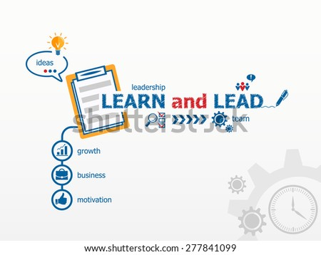 learn and lead concept and