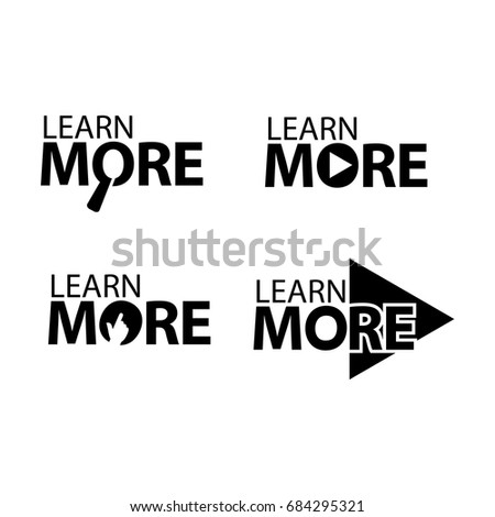 learn more. Creative lettering vector illustration. illustration in vector format. Stock photo ©