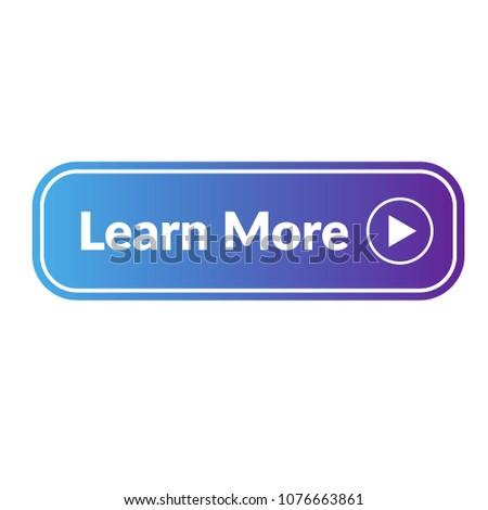 Learn more web button. blue color Stock photo ©