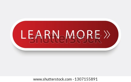 Learn more web site button isolated on gray background. Trendy learn more button for web site, label, banner, sticker, design template, icon and logo. Business concept, vector illustration Stock photo ©
