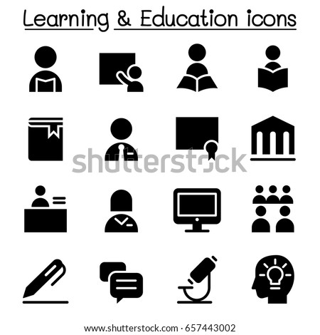 Learning & Education icon set, Vector illustration Graphic design