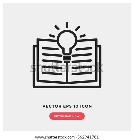 Learning vector icon, open book symbol. Modern, simple flat vector illustration for web site or mobile app