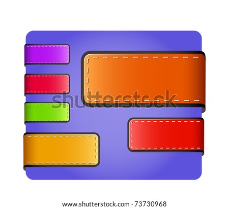leather blank colorful tags and