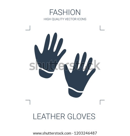leather gloves icon. high quality filled leather gloves icon on white background. from fashion collection flat trendy vector leather gloves symbol. use for web and mobile