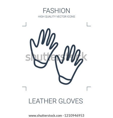 leather gloves icon. high quality line leather gloves icon on white background. from fashion collection flat trendy vector leather gloves symbol. use for web and mobile