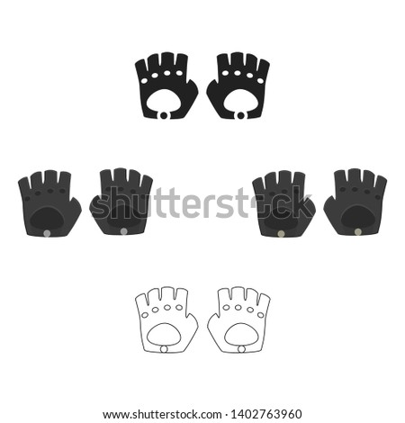 Leather gloves icon of vector illustration for web and mobile