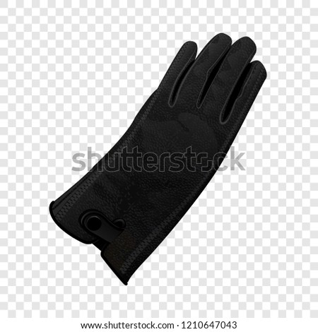 Leather gloves icon. Realistic illustration of leather gloves vector icon for web design on transparent background for web