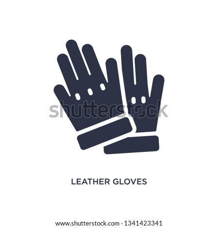 leather gloves isolated icon. Simple element illustration from clothes concept. leather gloves editable logo symbol design on white background. Can be use for web and mobile.