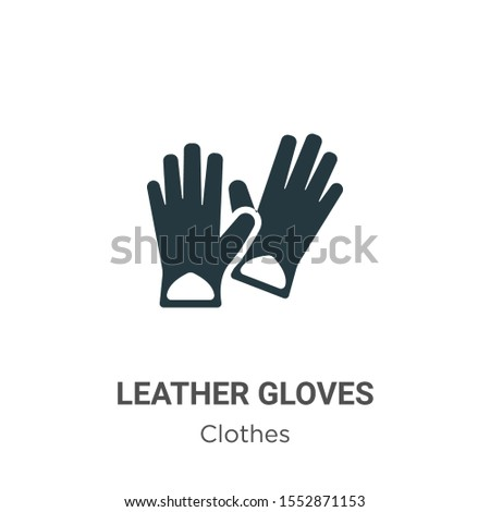 Leather gloves vector icon on white background. Flat vector leather gloves icon symbol sign from modern clothes collection for mobile concept and web apps design.