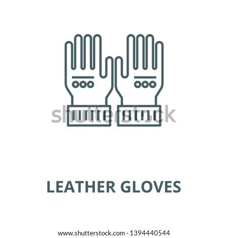 Leather gloves vector line icon, linear concept, outline sign, symbol
