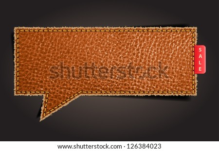 leather texture background on