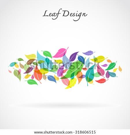 leaves design on white