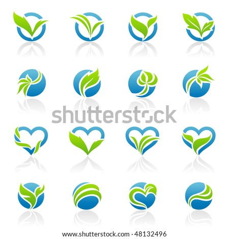 Leaves. Elements for design. Vector illustration.