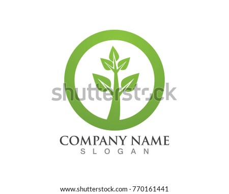 leaves green nature logos