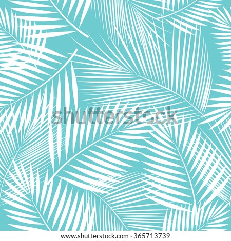 leaves of palm tree seamless