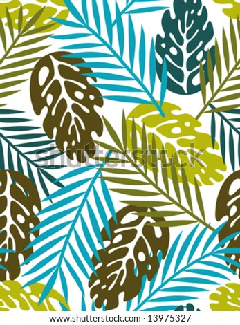 leaves - seamless pattern(vector)