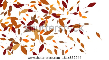 Leaves. Throw autumn leaves. Unusual abstract texture. Vector eps 10.