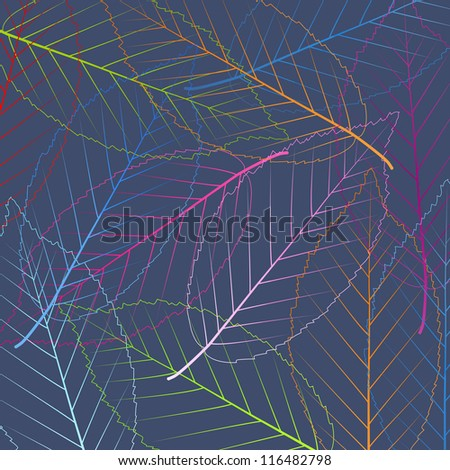 Leaves vector abstract background
