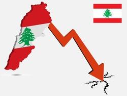 Lebanon economic crisis vector illustration Eps 10