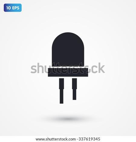LED bulbs icon vector