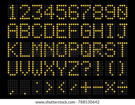led digital alphabet bright