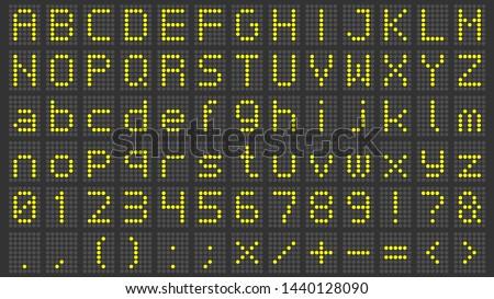 Led Screen Vector Font - Download Free Vectors, Clipart