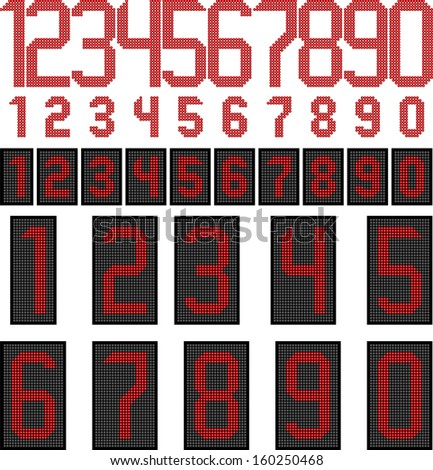 LED display numbers