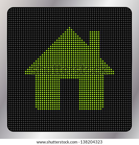 led home icon button graphic design element - Home Graphic Design