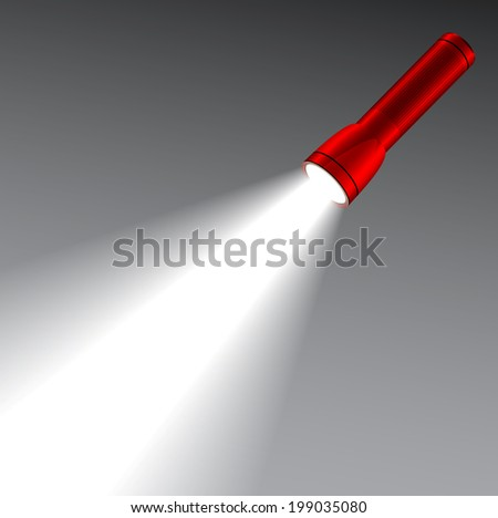 led red flashlight with a light