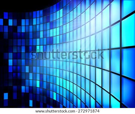 led screen vector illustration