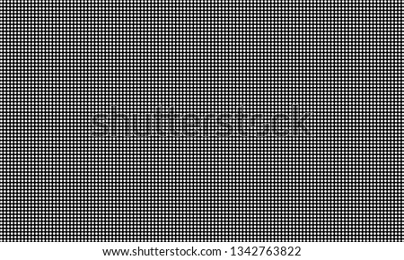 Led video wall screen, diode dot grid texture. Vector digital video panel mesh pattern background