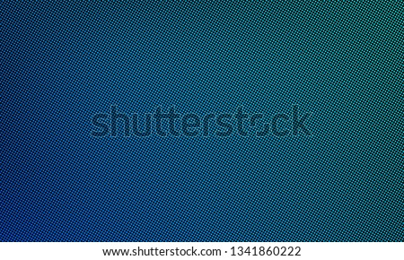 LED video wall screen texture background. Vector digital blue light LED dot mesh gradient pattern