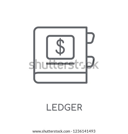 Ledger linear icon. Modern outline Ledger logo concept on white background from Cryptocurrency economy and finance collection. Suitable for use on web apps, mobile apps and print media.