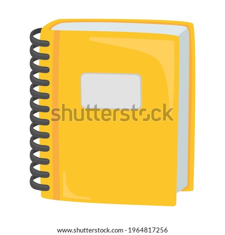 Ledger Sign Emoji Icon Illustration. Spiral Bound Book Vector Symbol Emoticon Design Clip Art Sign Comic Style. Foto stock ©