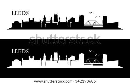 leeds skyline   vector
