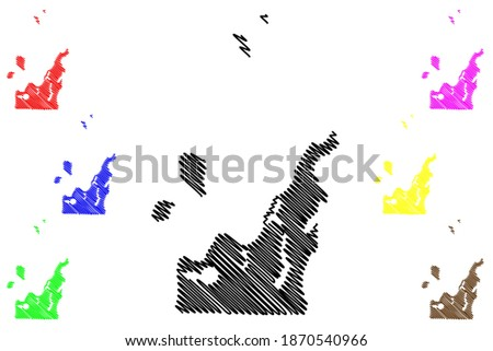 Leelanau County, Michigan (U.S. county, United States of America, USA, U.S., US) map vector illustration, scribble sketch Leelanau map Stock fotó ©