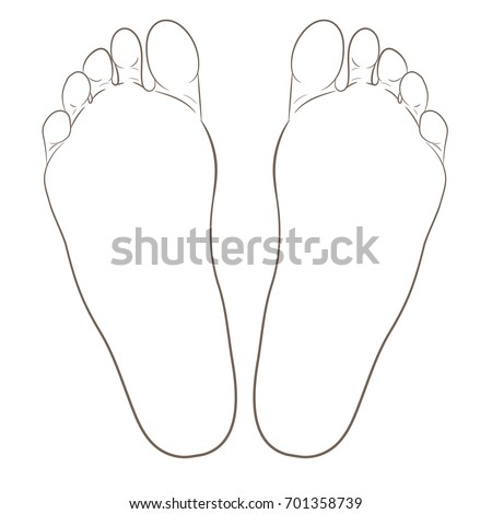 left and right foot soles