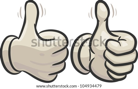 left and right hand with raised thumbs up, showing a sign of a very very good