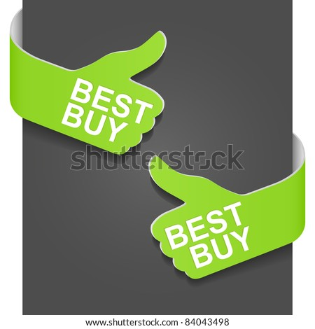 Left and right side sign - BEST BUY. Vector illustration.