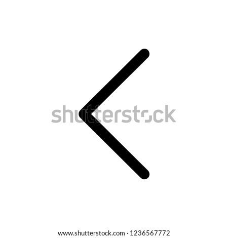 Left arrow icon, Left arrow icon vector, in trendy flat style isolated on white background. Left arrow icon image, Left arrow icon illustration, EPS 10, Premium
