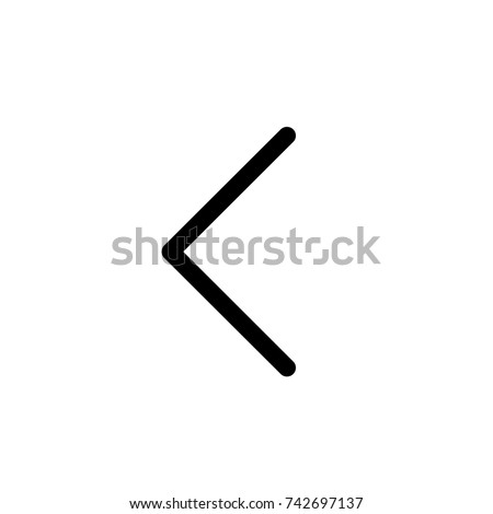 Left arrow icon, Left arrow icon vector, in trendy flat style isolated on white background. Left arrow icon image, Left arrow icon illustration