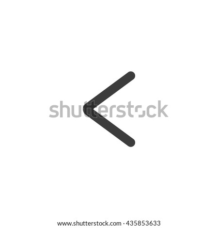 Left arrow icon. Left arrow Vector isolated on white background. Flat vector illustration in black. EPS 10