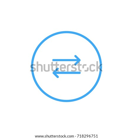 Left arrow right vector outline icon